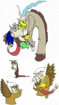 2012 avian baby discord_(mlp) draconequus dragon duo female feral friendship_is_magic gilda_(mlp) gryphon male my_little_pony young   Rating: Safe  Score: 0  User: Esprites  Date: April 18, 2012