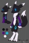 ambiguous_gender anthro bandai black_fur canine claws digimon digitigrade fangs fox fur ghost hindpaw mammal model_sheet original_character paws renamon smile solo spirit standing tribal_markings vibrantechoes video_games white_fur   Rating: Safe  Score: 3  User: Blackphantom770  Date: April 01, 2014