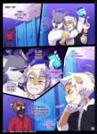 after_sex angry anthro badger blue_eyes brown_hair canine clenched_teeth clothing comic cum cum_on_face english_text fangs grey_eyes group hair male mammal mustelid teeth text tokifuji white_hair wolf   Rating: Explicit  Score: 15  User: EmoCat  Date: December 20, 2014