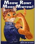 1942 cat feline female feminism feminist flexing fur furrification green_eyes headscarf inspired_by_proper_art j_howard_miller orange_fur overalls parody poster propaganda rosie_the_riveter solo unknown_year   Rating: Safe  Score: 18  User: Anomynous  Date: June 28, 2011