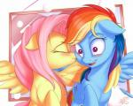2015 blush cute cutie_mark duo equine eyes_closed female female/female feral fluttershy_(mlp) friendship_is_magic hair kissing mammal multicolored_hair my_little_pony nobody47 open_mouth pegasus pink_eyes pink_hair rainbow_dash_(mlp) rainbow_hair smile wing_hug wings  Rating: Safe Score: 12 User: Robinebra Date: August 22, 2015