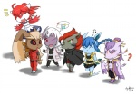 2011 ? absol anthro black_hair black_sclera blue_fur blue_hair breasts brown_fur chibi claws clothed clothing cute dress eeveelution eyes_closed female fur glaceon gloves green_eyes grey_fur group hair horn jacket latias legendary_pokémon long_hair lopunny male mienshao navel nintendo one_eye_closed pants plain_background pokémon pokémorph purple_fur red_eyes red_hair skykain slit_pupils smile thought_bubble video_games white_background white_fur wings yellow_eyes zoroark   Rating: Safe  Score: 3  User: GameManiac  Date: May 04, 2015