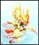 anthro avian beak bird breasts chest_tuft claws cloud deymos female flying fur hair nintendo pidgeot pokéball pokémon pokémorph red_eyes sky solo tuft video_games wings   Rating: Questionable  Score: 1  User: UNBERIEVABRE!  Date: July 08, 2014
