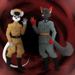 2018 afterlife black_boots blue_eyes brown_belt brown_hat brown_uniform canine claws communism detailed_backround duo flesh friends gear-senpai green_eyes grey_uniform hell mammal nazi politics rat red_eyes rodent void vore welcome wolfRating: SafeScore: 1User: Guil-The-HedgehogDate: March 03, 2018