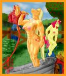 2014 anthro apple_bloom_(mlp) applejack_(mlp) areola bath big_breasts big_macintosh_(mlp) breasts earth_pony equine erect_nipples female friendship_is_magic horse male mammal mortis_kull muscles muscular_female my_little_pony nipples nude pony pussy undressing water   Rating: Explicit  Score: 10  User: Robinebra  Date: November 16, 2014