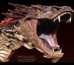 3d_(artwork) ambiguous_gender cgi digital_media_(artwork) dragon feral headshot_portrait hi_res horn lizard male open_mouth portrait reptile salireths scales scalie sharp_teeth simple_background smaug solo teeth the_hobbit tongue tongue_out yellow_eyes  Rating: Safe Score: 9 User: zergrush Date: January 22, 2016