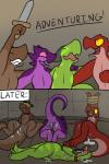 2016 after_rape after_sex aliasing anthro bad_end ball_gag bdsm bondage bound butt comic cum cum_in_pussy cum_inside cum_on_face dialogue dungeon english_text female flat_chested forced gag gagged group hi_res horn kobold lizard lol_comments melee_weapon nude open_mouth pussy rape reptile scalie sword teeth text trout_(artist) weapon  Rating: Explicit Score: 61 User: Aphrodesiac Date: March 05, 2016