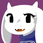 2015 ambiguous_gender anthro boss_monster caprine cave_story crossover fur goat horn lagomorph low_res mammal mimiga smile solo sue_sakamoto toriel undertale video_games white_fur
