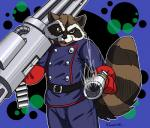 gun kiwaku male mammal marvel raccoon ranged_weapon rocket_raccoon weapon   Rating: Safe  Score: 5  User: toboe  Date: December 08, 2013