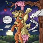 "2015 apple apple_tree applejack_(mlp) bat_pony bat_wings blonde_hair cloud duo earth_pony english_text equine exedrus eyes_closed female feral flutterbat_(mlp) fluttershy_(mlp) friendship_is_magic fruit full_moon fur green_eyes hair hat hooves horse hug long_hair mammal moon my_little_pony outside pink_fur pony sleeping text underhoof upside_down wings  Rating: Safe Score: 13 User: lemongrab Date: June 26, 2015"""