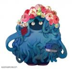 ambiguous_gender bluekomadori budew duo feral flora_fauna flower flower_in_hair hi_res nintendo plant pokémon smile tangrowth tentacles video_games water watering_can