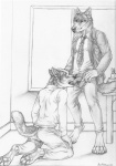 2014 anthro canine claws clothed clothing cum cum_inside duo erection eyes_closed fellatio fur knot male male/male mammal open_mouth oral paws penis rukis sex smile tongue wolf   Rating: Explicit  Score: 12  User: *Sellon*  Date: December 28, 2014