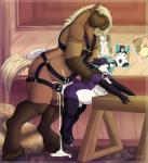 anal barn brown_fur canine collar cum equine excessive_cum foalx fox fur harness hay horse legwear lifting locosaltinc male male/male mammal nude purple_fur saliva scratching standing stockings toasty   Rating: Explicit  Score: 12  User: LocoSaltInc  Date: April 25, 2015