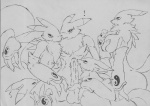 """! anthro black_and_white breasts canine chest_tuft digimon female fox fur group group_sex male male/female mammal mechogama monochrome orgy penis pussy renamon sex tuft  Rating: Explicit Score: 6 User: LoyalMasters Date: August 16, 2009"""""""