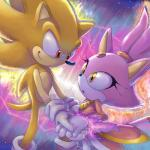 anthro black_nose blaze_the_cat burning_blaze cat clothing duo feline female footwear fur gem gloves hair hedgehog hi_res male mammal nenikat ponytail purple_fur purple_hair red_eyes smile sonic_(series) sonic_the_hedgehog super_sonic video_games yellow_eyes  Rating: Safe Score: 8 User: Cαnε751 Date: December 07, 2015