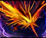 ambiguous_gender avian beak bird digital_media_(artwork) digital_painting_(artwork) electricity feral legendary_pokémon nintendo pokémon pokémon_(species) solo talons tsurara_neko video_games wings yellow_body zapdos