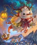 2014 antlers aurora_borealis canine coat cub cute flying fox horn lagomorph magic mammal outside pipe rabbit scarf silverfox5213 snow snowman sunset winter young   Rating: Safe  Score: 3  User: tony311  Date: January 29, 2014
