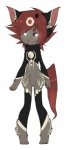 2015 black_fur digitigrade espinoth fangs front_view fur glowing glowing_eyes grey_fur hair here-kitty--kitty horn looking_at_viewer male markings nude open_mouth paws pink_fur pink_skin red_hair red_midnight red_scelera red_tail solo thanxia threed white_eyes white_fur white_hair   Rating: Safe  Score: 1  User: Asura_Arklin  Date: April 20, 2015