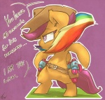 2013 atryl belt cowboy cowboy_hat dialogue digital_media_(artwork) english_text equine female feral friendship_is_magic fur grass hair hat mammal multicolored_hair my_little_pony orange_fur pegasus purple_background purple_eyes purple_hair rainbow_dash_(mlp) rainbow_hair scootaloo_(mlp) signature solo standing text toothpick toy wings young  Rating: Safe Score: 15 User: mlp Date: July 02, 2013""