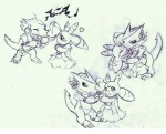 2011 <3 ambiguous_gender anthro blush clothed clothing dancing digimon duo eyes_closed female headphones lunamon monochrome music nude open_mouth raised_tail shoutmon simple_background sketch tigerlilylucky traditional_media_(artwork) white_background  Rating: Safe Score: 1 User: GameManiac Date: February 09, 2016