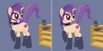 collar equine female feral gas_mask hair horse jessica_elwood my_little_pony nude original_character panties pony purple_hair red_eyes solo stockings tablet underwear webcam   Rating: Questionable  Score: 5  User: Amberdrk  Date: January 11, 2013