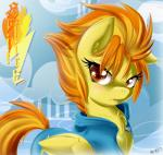 2014 equine female feral friendship_is_magic fur hair knifeh looking_at_viewer mammal my_little_pony orange_hair outside pegasus solo spitfire_(mlp) two_tone_hair wings wonderbolts_(mlp) yellow_fur   Rating: Safe  Score: 11  User: lemongrab  Date: January 26, 2014