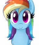 animated blinking cute emofuri equine female feral friendship_is_magic hair looking_at_viewer mammal marytheechidna multicolored_hair my_little_pony pegasus plain_background purple_eyes rainbow_dash_(mlp) rainbow_hair smile solo white_background wings   Rating: Safe  Score: 63  User: Ciderlove  Date: July 06, 2014