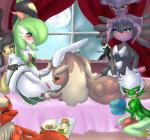 artist bed blaziken blush butt eeveelution espeon excited female fur gardevoir gothitelle green_hair group hair lilligant lopunny male mawile mismagius nintendo nirvanilla nude open_mouth penetration penis pokémon pussy red_eyes roserade smile umbreon video_games  Rating: Explicit Score: 13 User: absol. Date: February 01, 2016