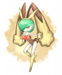 ambiguous_gender blush fake_ears gardevoir green_hair hair humanoid lagomorph looking_at_viewer lopunny mammal nintendo pokémon rabbit red_eyes smile solo video_games 傭兵  Rating: Safe Score: 12 User: iceenvy Date: April 01, 2014