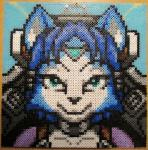 2016 anthro arwing black_nose blue_fur blue_hair bodysuit canine chair clothing cockpit female fox fur hair krystal mammal nintendo perler_beads photo short_hair skinsuit smile solo star_fox thecynicalcdr tight_clothing video_games white_fur  Rating: Safe Score: 10 User: Emerald_Edge Date: April 12, 2016