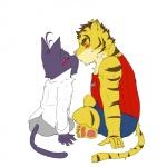 blush cat duo eyes_closed feline kissing love male male/male mammal morenatsu romantic shin_(morenatsu) tiger torahiko_(morenatsu)  Rating: Safe Score: 4 User: Lionxie Date: October 23, 2015