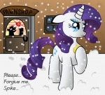 blue_eyes crying cutie_mark duo equine eyeshadow female feral fire_ruby friendship_is_magic fur hair horn makeup mammal my_little_pony outside pawnshop purple_hair rarity_(mlp) regret silhouette snow snowing solo_focus tears unicorn white_fur ziemniax  Rating: Safe Score: 3 User: anthroking Date: April 16, 2013