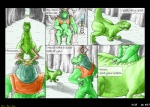 anthro balls claws colored_pencil_(artwork) comic dialogue dinosaur duo english_text flaccid fox_mccloud general_scales lizard lust_penis male mixed_media mot nintendo pencil_(artwork) penis remake reptile scalie star_fox text toe_claws traditional_media_(artwork) video_games   Rating: Explicit  Score: 4  User: Anomynous  Date: May 01, 2008