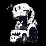 bone car derek_hetrick male monochrome papyrus_(undertale) skeleton solo undertale vehicle video_games  Rating: Safe Score: 17 User: Nuji Date: October 06, 2015