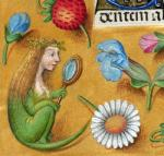 1497 15th_century anthro breasts female flower fruit hair human hybrid lizard magnifying_glass mammal medieval_art petals plant real reptile scalie strawberry wreath  Rating: Questionable Score: 0 User: Alchemon Date: November 24, 2015