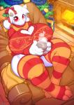 0r0ch1 anthro blush boss_monster caprine christmas christmas_tree clothed clothing female fire fireplace gift goat hi_res holidays horn legwear long_ears looking_at_viewer mammal red_eyes sitting solo striped_legwear stripes toriel tree undertale video_games  Rating: Questionable Score: 3 User: lemongrab Date: February 14, 2016