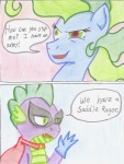 2013 blue_fur cardstock comic dialogue dragon duo english_text equine female friendship_is_magic fur hair horse humdrum_(mlp) male mammal mane-iac_(mlp) my_little_pony pony power_ponies_(mlp) scalie smile spike_(mlp) super_hero text the1king traditional_media_(artwork) villainous  Rating: Safe Score: 4 User: The1King Date: December 21, 2013
