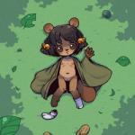 black_eyes black_hair brown_fur cub female fur hair kemono legwear loli lying nipples nude pussy solo stockings tanuki unknown_artist young   Rating: Explicit  Score: 7  User: KemonoLover96  Date: December 14, 2014