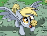 2012 blonde_hair derp_eyes derpy_hooves_(mlp) equine female flower food friendship_is_magic grass hair latecustomer mammal muffin my_little_pony outside path pegasus smile solo wings yellow_eyes   Rating: Safe  Score: 9  User: 2DUK  Date: February 03, 2014