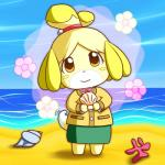 animal_crossing anthro beach black_nose canine clothing dog dress female hair hair_ornament isabelle_(animal_crossing) mammal nintendo seaside short_hair solo uniform unknown_artist video_games water  Rating: Safe Score: 0 User: Cαnε751 Date: November 09, 2015