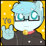 anthro bell bell_collar berseepon09 blue_eyes blue_hair cervine clothed clothing collar deer eyewear glasses hair looking_at_viewer male mammal shota_deer_(character) solo young  Rating: Safe Score: 2 User: JGG3 Date: January 31, 2016