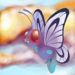 arthropod butterfly butterfree cute erection insect insect_wings male nintendo nude penis pokémon precum solo strugglebug video_games wings