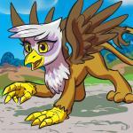 "2015 avian female feral friendship_is_magic gilda_(mlp) gryphon karol_pawlinski my_little_pony smile solo  Rating: Safe Score: 4 User: Robinebra Date: June 21, 2015"""