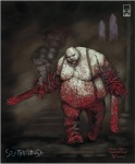 biggy_man blood chainsaw hi_res humanoid male monster monstrous_humanoid overweight roger_robinson scar splatterhouse tools video_games