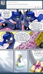 comic derpy_hooves_(mlp) equine female friendship_is_magic hearts_and_hooves_day horn horse john_joseco mammal my_little_pony pony princess_luna_(mlp) winged_unicorn wings   Rating: Safe  Score: 9  User: EurynomeEclipseVII  Date: February 10, 2014