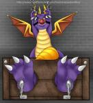 ball bdsm bondage bound claws dragon feet_stocks foot_focus gag heyitshappydoodles male paws saliva scalie slobber solo spyro spyro_the_dragon stocks tickling video_games   Rating: Questionable  Score: -1  User: Heyitshappydoodles  Date: November 28, 2014