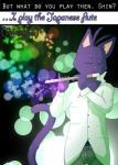 "cat feline flute hi_res htodinth male mammal morenatsu musical_instrument shin_kuroi  Rating: Safe Score: 1 User: HTOdinTH Date: November 02, 2014"""