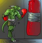 anthro boxing_gloves clothed clothing colored_sketch horn jewelry male muscular muscular_male ndragon3 necklace sandbag scalie solo standing toplessRating: SafeScore: 4User: Cat-in-FlightDate: April 22, 2018