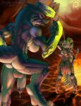 blue_scales brachydios breasts brute_wyvern dickgirl female glowing green_scales herm horn iggi intersex monster_hunter penis red_eyes video_games   Rating: Explicit  Score: 5  User: voldosbt  Date: March 05, 2015
