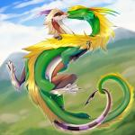 dragon duo female feral feral_on_feral flying flying_sex hi_res male male/female scalie sex zazush-una zazush_(zazush-una)